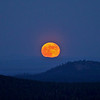 Moon-Rise/Moon-Set (2010) : Moonviews from the 30-ft fire lookout tower atop 6370-ft East Butte